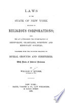 Laws of the State of New York Relating to Religious Corporations Book