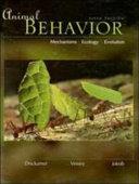 Animal Behavior  Mechanisms  Ecology  Evolution Book
