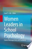 Women Leaders In School Psychology Book