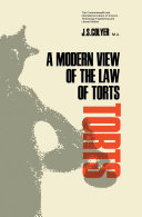 A Modern View of the Law of Torts Pdf/ePub eBook