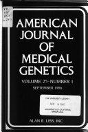 American Journal of Medical Genetics Book