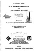 Proceedings of the 35th Midwest Symposium on Circuits and Systems