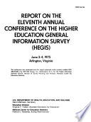 Report On The Annual Conference On The Higher Education General Information Survey Hegis