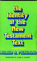 The Identity of the New Testament Text