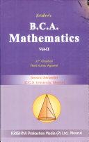 B.C.A. Mathematics Vol-11