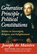 Pdf The Generative Principle of Political Constitutions Telecharger