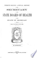 Annual report of the Commissioner of the Michigan Department of Health for the fiscal year ending     1894