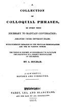 A Collection of Colloquial Phrases
