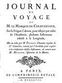 Journal du voyage de M. le Marquis de Courtanvaux sur la frégate l'Aurore,