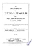 The Imperial Dictionary Of Universal Biography