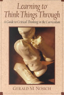 link to Learning to think things through : a guide to critical thinking across the curriculum in the TCC library catalog