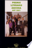 Premis literaris Ancora  : any 2001