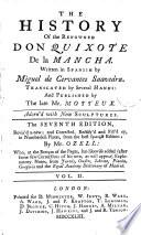 The History of the Renowned Don Quixote de la Mancha