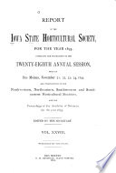 Transactions of the Iowa State Horticultural Society for ...