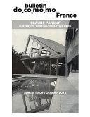 Bulletin Docomomo France Special Issue Claude Parent