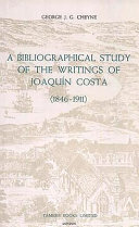 A Bibliographical Study of the Writings of Joaquín Costa, 1846-1911