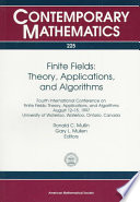 Finite Fields: Theory, Applications and Algorithms