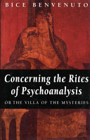 Concerning the Rites of Psychoanalysis, Or, The Villa of the Mysteries