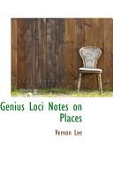 Genius Loci Notes on Places