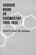 Source Book In Chemistry 1900 1950