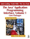 The Java Application Programming Interface  Core packages