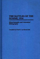 The Battles of the Somme  1916