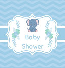 Blue Baby Shower Guest Book Hardcover  Book PDF