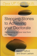 Stepping Stones to Achieving Your Doctorate