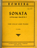 Sonata in B flat major  for cello and piano  op  38  no  3 Book