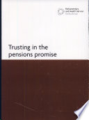 Trusting In The Pensions Promise Book PDF