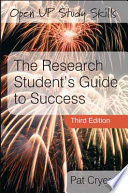 The Research Student s Guide to Success Book