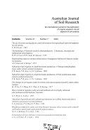 Australian Journal of Soil Research