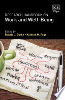 Research Handbook on Work and Well Being Book