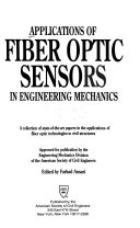 Applications of Fiber Optic Sensors in Engineering Mechanics Book