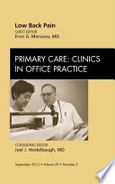 Low Back Pain An Issue Of Primary Care Clinics In Office Practice E Book Book PDF