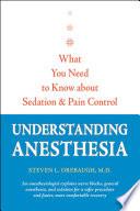 Understanding Anesthesia Book