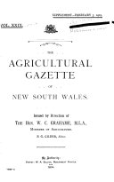 Agricultural Gazette of New South Wales Book PDF