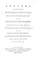 Letters, written by the late Jonathan Swift ... and several of his friends, from the year 1703 to 1740, with notes by J. Hawkesworth