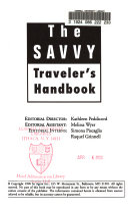 The Savvy Traveler s Handbook