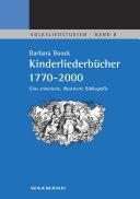 Kinderliederbücher 1770-2000