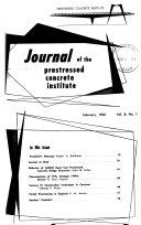 Journal of the Prestressed Concrete Institute