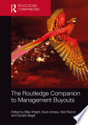 The Routledge Companion To Management Buyouts