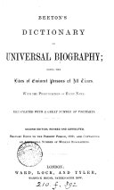 Beeton s Dictionary of universal biography