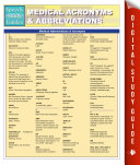 Medical Abbreviations   Acronyms  Speedy Study Guides