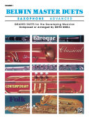 Belwin Master Duets   Saxophone  Advanced  Volume 1