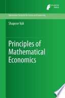 """Principles of Mathematical Economics"" by Shapoor Vali"