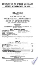 Department Of The Interior And Related Agencies Appropriations For 1996 Justification Of The Budget Estimates Geological Survey Book PDF