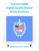 Essential 18000 Medical Words Dictionary In English-Swahili
