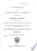 Journals of the Legislative Assembly of the Province of British Columbia