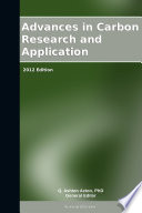 Advances in Carbon Research and Application  2012 Edition